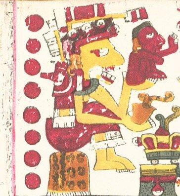 Prehistoric Aztec glyph of Aztec Queen Mictlancihuatl