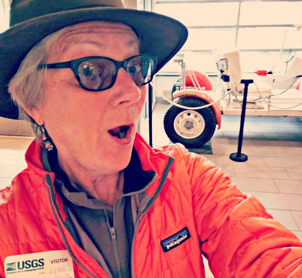 UNSTOPPABLE Stacey surprised by Moon Rover at USGS display