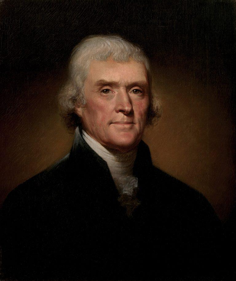 Official Presidential Portrait of Thomas Jefferson