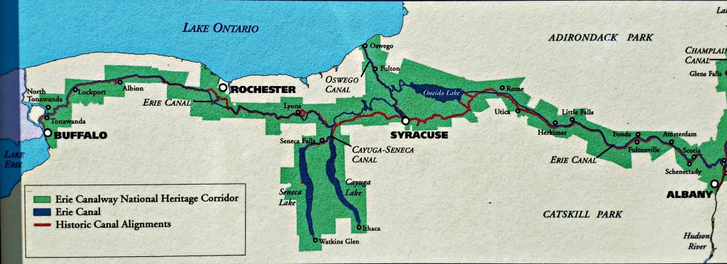 map of Erie Canalway National Heritage Corridor