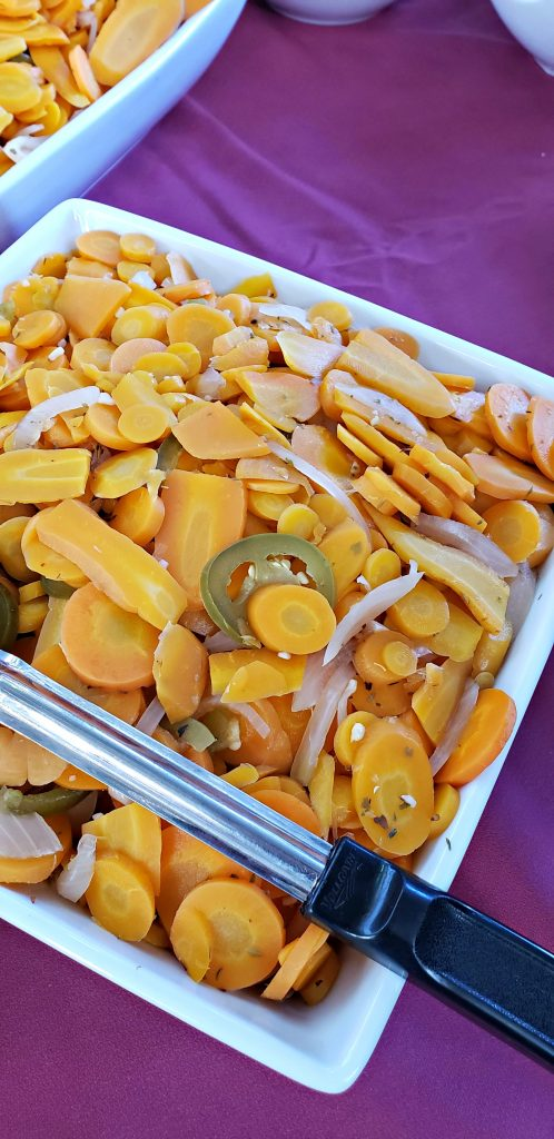 Pickled Carrot with Jalapeno peppers salad