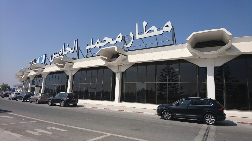 Exterior of Mohammed V International Airport in Casablanca