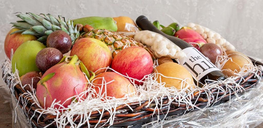 Fruit & Wine Basket Speaks the Love Language of Your Valentine