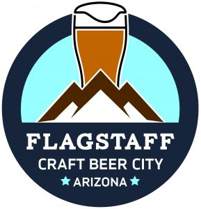 "logo that reads "" Flagstaff Craft Beer City - Arizona"