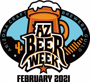 "logo which reads, ""AZ Beer Week February 2021"""