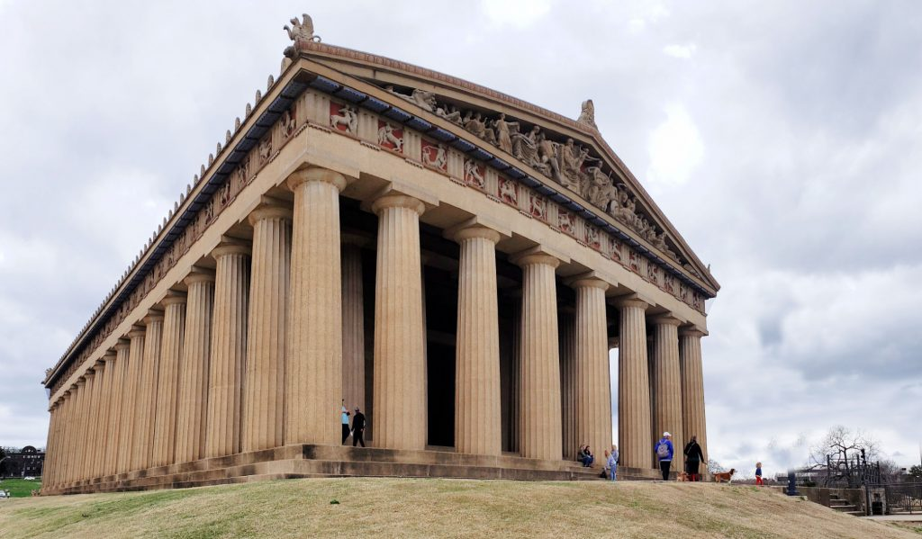 massive building with large columns