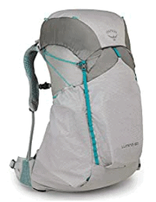 Osprey Lumina 60 women's best backpack for camping